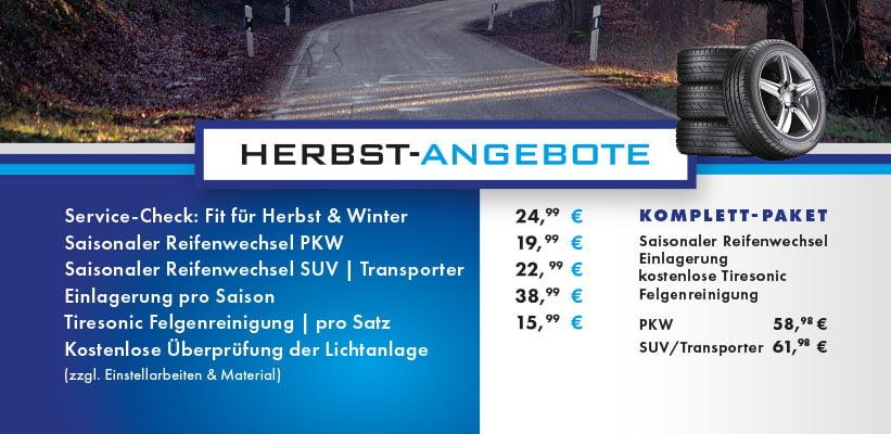 Herbstangebot 2021 - Fahrzeugtechnik Hantschel GmbH